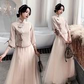 氣質 洋裝創意伴娘服中式女裝仙伴娘裙伴娘禮服女平時可穿【星時代生活館】