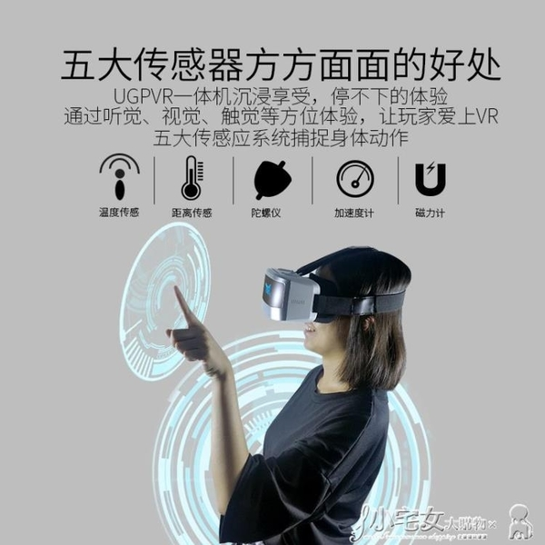 ugp高清vr一體機虛擬現實3d眼鏡4k屏頭戴式ar影院2k游戲機頭盔wifi顯示器設備電腦版 MKS小宅女