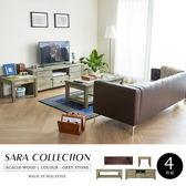 三人皮沙發 SARA莎拉鄉村系列客廳組-4件式(電視櫃+茶几+小茶几-沙發)/H&D 東稻家居