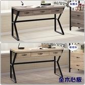【水晶晶家具/傢俱首選】HT0359-1和興4呎灰橡木全木心板三抽造型書桌~~雙色可選