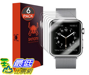 [105美國直購] 蘋果手錶保護膜 Apple Watch 38mm Screen Protector Warranty Ultra High Definition Invisible SK18690