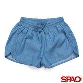 SPAO女款素面抽繩牛仔短褲-共2色
