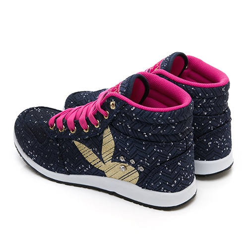 PLAYBOY PartyQueen 高筒兔兔內增高鞋-藍(Y3715)