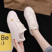 小白鞋 平底小白鞋女秋季新款韓版百搭板鞋女網紅超火運動鞋ins潮鞋