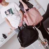 一件免運-短途旅行包女手提正韓行李袋男旅游登機包防水輕便單肩斜挎健身包