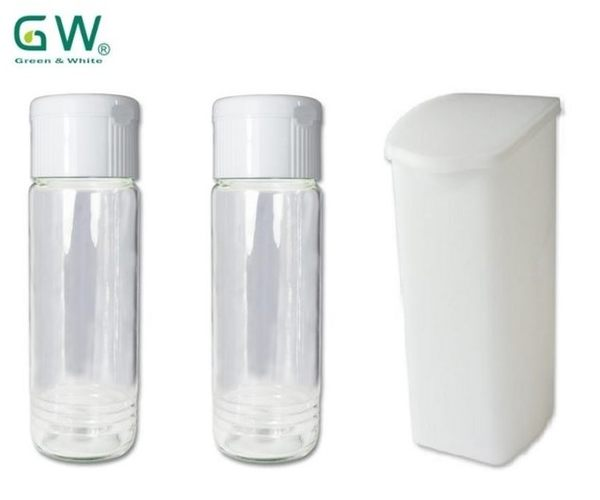 GW 配件三入超值組 玻璃梅酒瓶二入 PP醱酵杯1000c.c.一入 優格發酵杯 優格機、釀造機適用