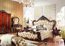 【大熊傢俱】RE803 歐式 皮床 雙人床 歐式古典 雙人床台 新古典 床架 五尺床 六尺床