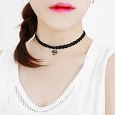 Qmishop 韓版甜美鑽石閃電嘴唇項圈短款頸鍊項鍊【QG2193】
