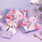 精美節日禮品盒520禮盒包裝盒簡約漸變禮物盒天鵝紙盒【快速出貨八折優惠】