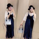 (批發價不退換)2316#夏裝新款大碼女裝胖mm顯瘦蕾絲拼接吊帶T恤兩件套F-4F088日韓屋