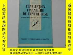 二手書博民逛書店法文原版罕見L EVALUATION FINANCIERE DE