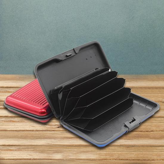 信用卡包 名片盒 卡片 硬殼 防消磁 銀行卡盒名片夾 風琴卡片包 禮品 鋁合金卡片包【J059】慢思行