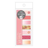 Kamio 半透明可撕式自黏便箋 標籤貼 小花 鮭魚粉_KM25676