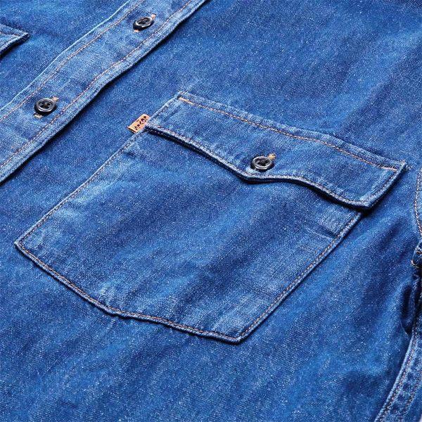 Levis 牛仔襯衫 女裝 / 經典 Westurn 版型 / 復古橘標 / 深色刷色