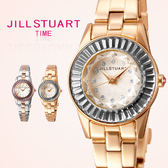 JILL STUART都會時尚新女性金屬腕錶 方晶鋯石玫瑰金手錶 柒彩年代【NE1017】原廠公司貨