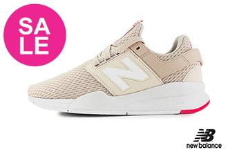 【出清下殺】New Balance 247 成人女款 限量時尚運動鞋 慢跑鞋 O8555#粉橘◆奧森
