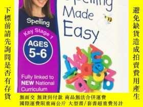 二手書博民逛書店DK罕見練習冊 Spelling Made Easy Ages 5-6 Key Stage 兒童英語拼寫入門系列