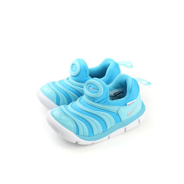 NIKE DYNAMO FREE (TD)毛毛蟲鞋 童鞋 淺藍色 小童 343938-417 no012