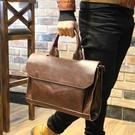 手提包韓版側背包斜背包商務復古公文包休閒電腦 黛尼時尚精品