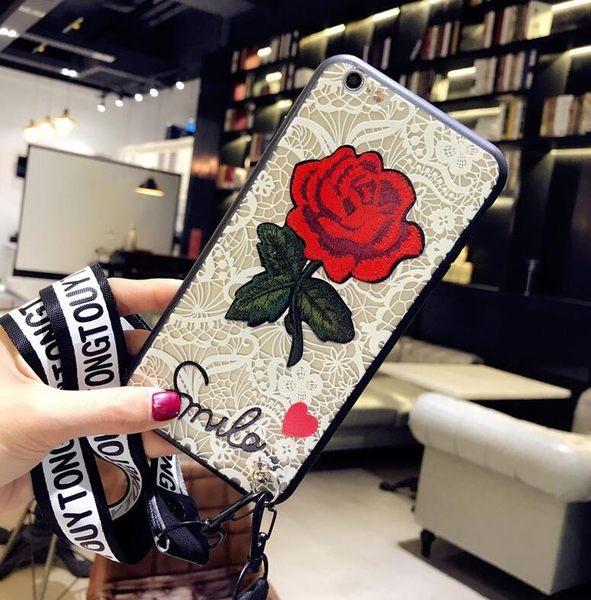 【SZ14】oppo r11s 手機殼 刺繡蕾絲玫瑰花r9 plus手機殼 R9S PLUS手機殼OPPO R9s 手機殼