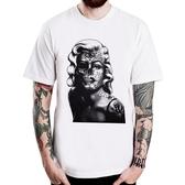Marilyn Monroe-Skull短袖T恤-3色 夢露骷髏圖案 390 gildan