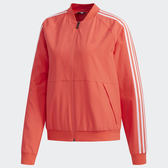 ADIDAS WMN BOMBER 女裝 外套 立領 休閒 慢跑 飛行外套 透氣 舒適 橘紅【運動世界】EI8964