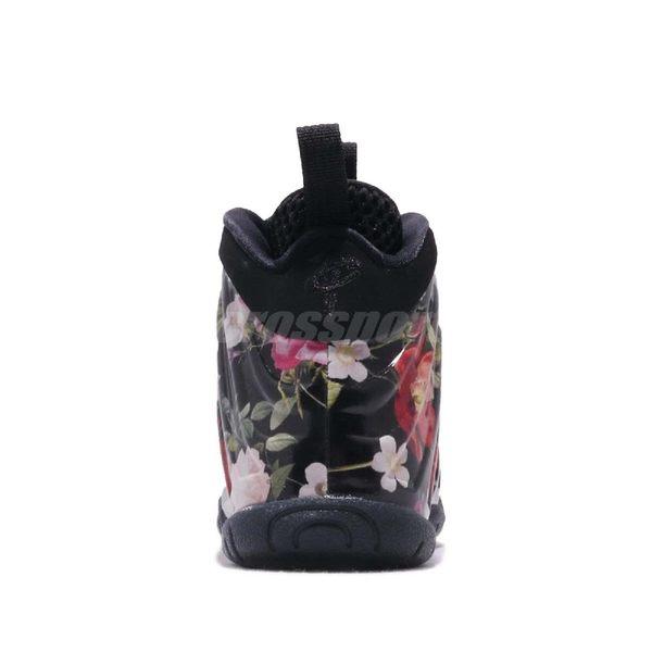 1aa371ea03802 ... Nike Little Posite One Prm PS Floral 黑彩色花卉圖騰太空鞋童鞋中童鞋 ...