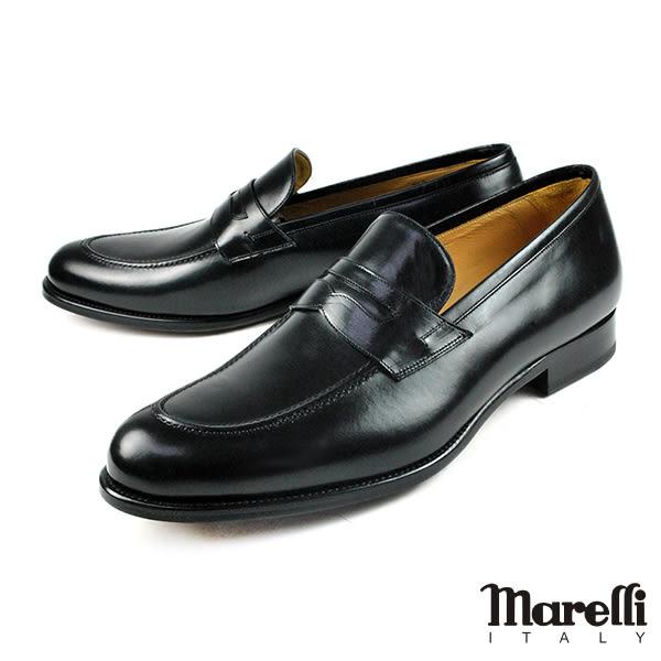 【Marelli】都會質感手工樂福鞋 黑色(M850-BL)
