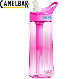 丹大戶外【CamelBak】美國專業水壺600ml濾心吸管水壺/濾淨水質/乾淨純淨/單車水瓶 53538 桃紅