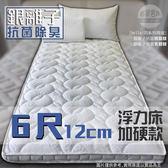 【嘉新名床】銀離子 ◆ 浮力床《加硬款 / 12公分 / 雙人加大6尺》