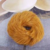 【粉紅堂髮飾】兔毛甜甜圈髮束 *芥末黃*