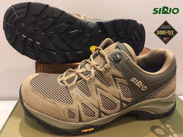 SIRIO日本-Gore Tex 短筒登山健行鞋(PF116BE)~棕色 (女~男) ★買就送coolmax排汗襪★