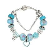 串珠手鍊-時尚精美琉璃飾品藍色系列女配件73kc135【時尚巴黎】