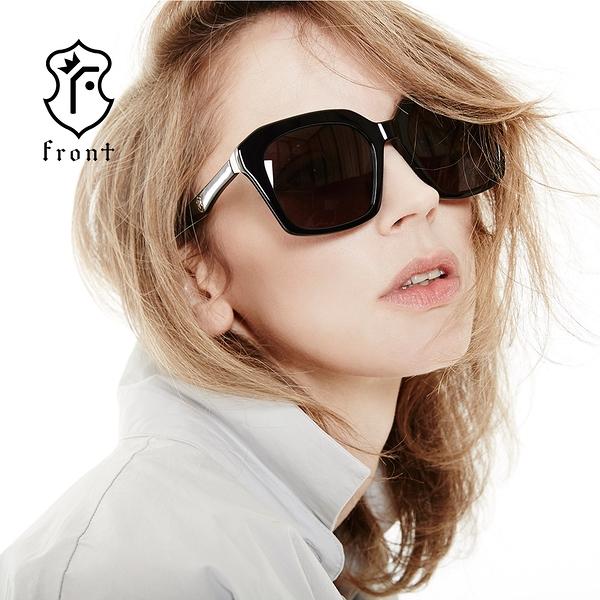 【Front 太陽眼鏡】Bang Bang-四色可挑選#時尚歐美大框太陽眼鏡/墨鏡
