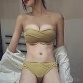 無肩帶內衣女小胸聚攏抹胸式無鋼圈性感文胸防滑裹胸【貼身日記】