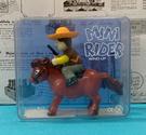 【震撼精品百貨】日本版玩具~發條騎馬玩具-橘帽#99040