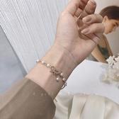 手鍊蝴蝶結珍珠手鍊女ins小眾設計感精致簡約日常百搭學生手環手飾潮 萊俐亞