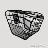 電動自行車車籃子前車筐電瓶車車筐加粗帶蓋車簍菜籃子電動車車籃YYP   傑克型男館