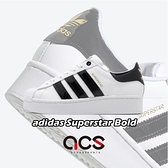【六折特賣】adidas 休閒鞋 Superstar Bold 白 黑 金標 厚底 增高 女鞋 小白鞋 【ACS】 FV3336
