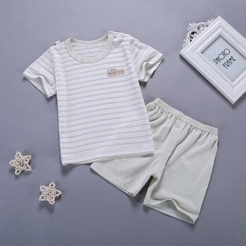 短袖套裝 透氣薄棉上衣+短褲 兒童家居服 寶寶童裝 HY11544 好娃娃