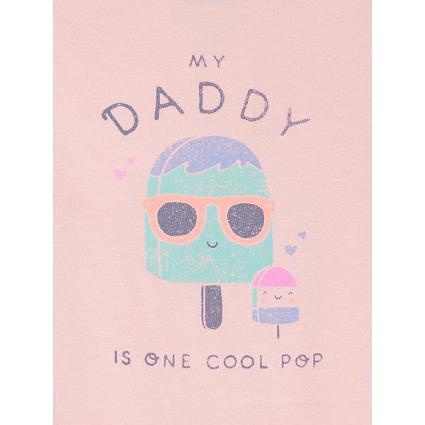Gap女嬰童趣印花信封領包屁衣580539-淺粉色