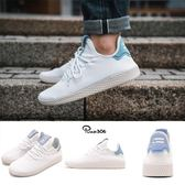 adidas 休閒鞋 PW Tennis HU Pharrell Williams 白 粉藍 聯名款 運動鞋 男鞋 女鞋【PUMP306】 CQ2167