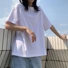 純棉黑白色短袖t恤女夏2020年新款寬鬆韓版大碼多色網紅ins超火潮【快速出貨】