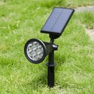 太陽能燈 太陽能射燈投光燈地插式草坪燈庭院燈戶外防水超亮太陽能柱頭路燈 NMS