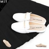 女款 質感一字金屬裝飾方頭前包後空樂福拖鞋 懶人鞋 穆勒鞋 低跟鞋 涼拖鞋 休閒鞋 MIT製造 59鞋廊