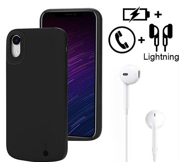 iPhone XS MAX XR 可充電保護殼 6000mAh 電池 背夾電源 背夾電池 行動電源 背蓋電池 背蓋充