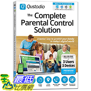 [106美國暢銷兒童軟體] Qustodio: The Complete Parental Control Solution - 3 Users / 3 Devices