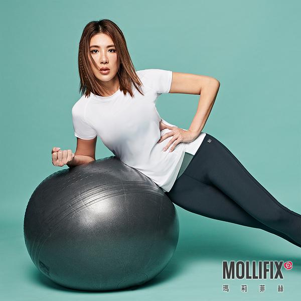 【小禎聯名設計】Mollifix 瑪莉菲絲 TRULY修身後網短袖上衣 (白)