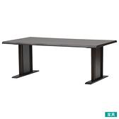 ◎實木餐桌 SAZANAMI 180 DBR 橡膠木 TW NITORI宜得利家居