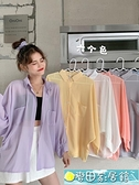 防曬衣 2021年新款百搭襯衣女夏季薄款寬鬆防曬衫外穿白色雪紡襯衫女上衣 快速出貨